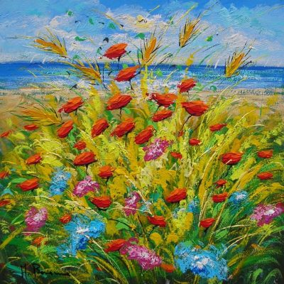 Adelio Bonacina - Papaveri sul mare